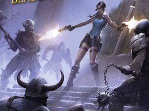Cover art for Lara Croft & the Blade of Gwynnever