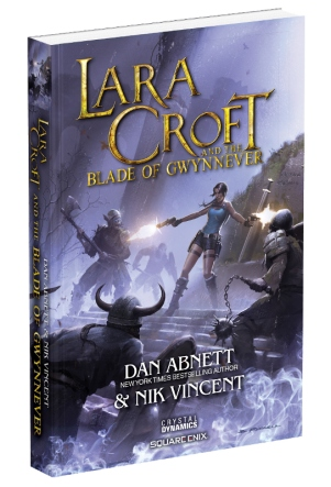 The cover for Lara Croft & the Blade of Gwynnever