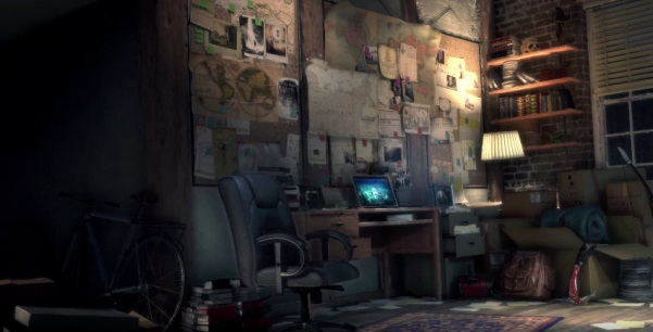 Lara's flat in Rise of the Tomb Raider