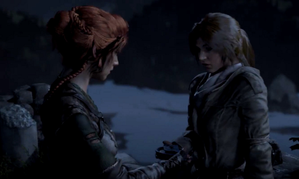 Lara with a female Remnant