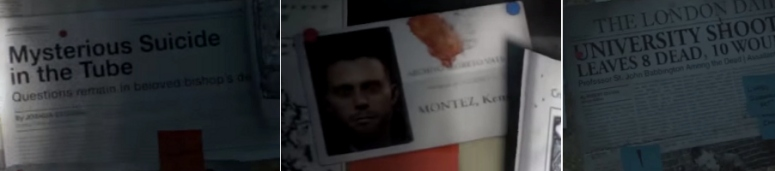 References to the Tomb Raider comics and spin-off novel can be seen on Lara's pinboard