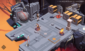 Screenshot from Lara Croft GO: The Shard of Life