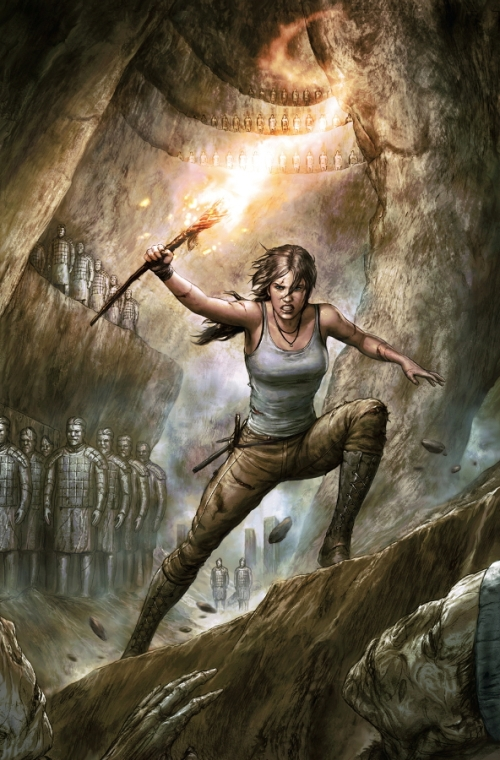 Cover art for issue 1 of Tomb Raider II