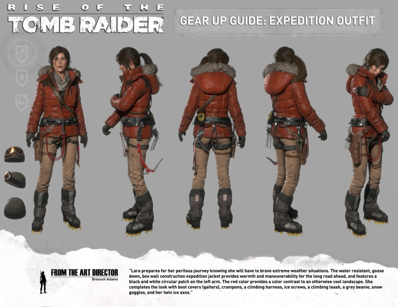 Lara Croft's red Expedition outfit
