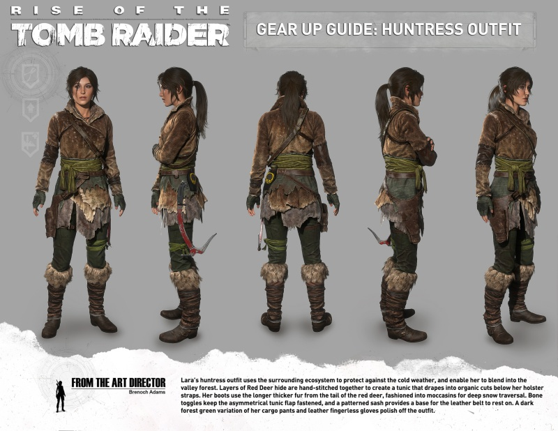 Lara Croft's Huntress outfit