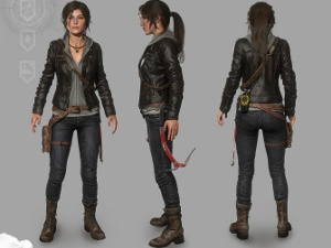 Lara Croft's leather jacket outfit