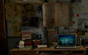 Lara Croft's desk