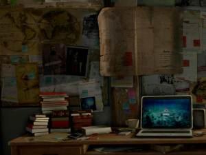 Lara Croft's desk