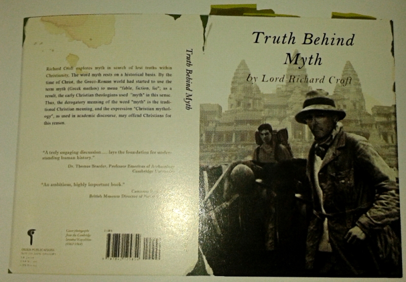 The cover for Richard Croft's book, Truth Behind Myth, designed by Jeff Adams