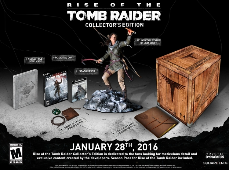 The Rise of the Tomb Raider Collector's Edition for PC