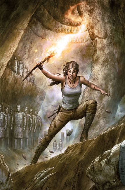 Agustin Alessio's cover for Tomb Raider #1