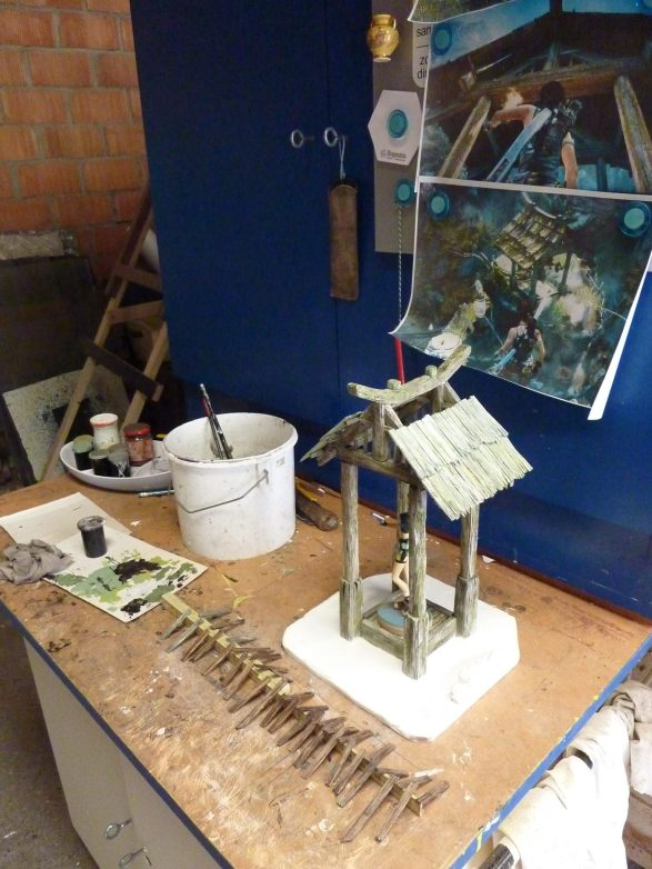 Jean Michel Thery's model of a mountain shrine from Tomb Raider 2013
