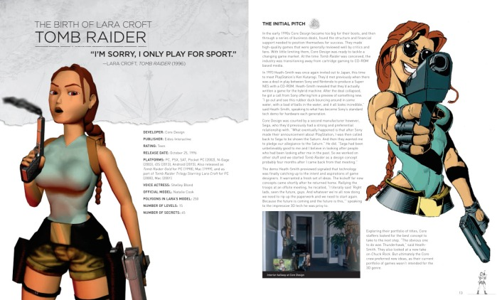 A tiny preview of what we can expect in '20 Years of Tomb Raider: Digging Up the Past, Defining the Future'. (Image credit: Crystal Dynamics & Prima Games)