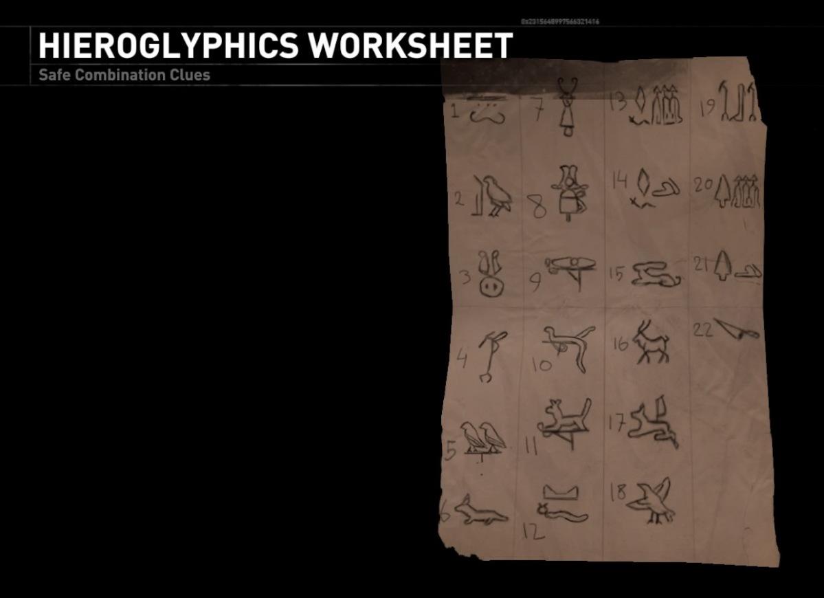 arte factual lara s hieroglyphics worksheet the archaeology of tomb raider. Black Bedroom Furniture Sets. Home Design Ideas