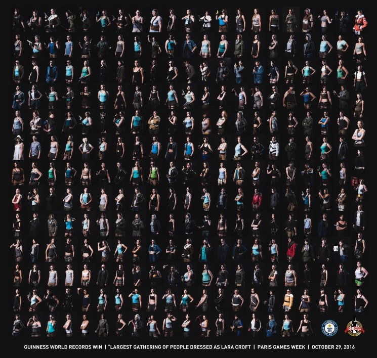 Photo montage of all the cosplayers that took in Paris Games Week's official cosplay gathering