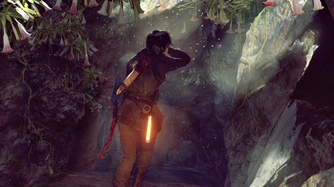 Concept art of Lara entering the Wicked Vale (Image credits: Crystal Dynamics)