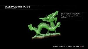 Jade dragon statue seen in the 'Blood Ties' DLC