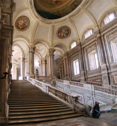 Honour Grand Staircase of the Royal Palace of Caserta, Italy (Image credit: Wikimedia Commons)