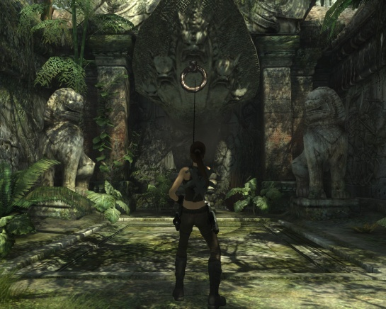 A multi-headed nāga statue guards a secret subterranean chamber in Bhogavati (Image credit: Katie's Tomb Raider Site)