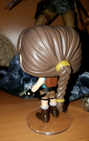 Lara Croft Funko Pop! figure (back view)