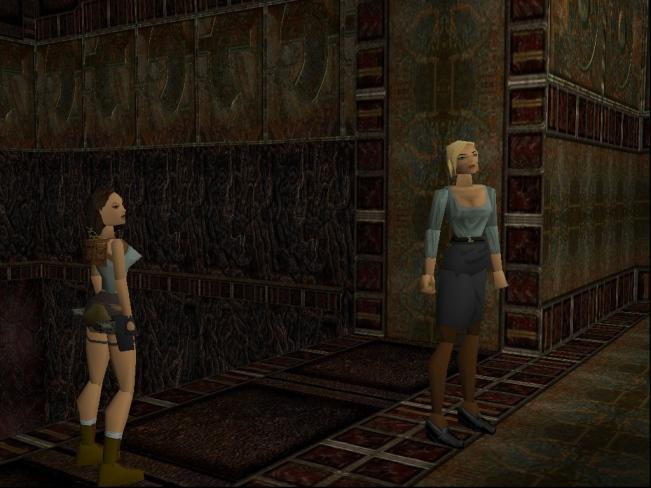 Lara Croft & Natla (Image credit: Katie's Tomb Raider Site)