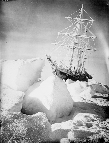 The Endurance trapped in ice (Image credit: Frank Hurley/National Maritime Museum)