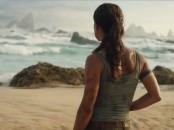 Lara Croft (Alicia Vikander) looks out to the sea