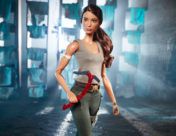Mattel's Lara Croft Barbie doll