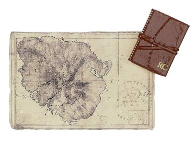 Map of Yamatai that comes with Mattel's Lara Croft Barbie doll