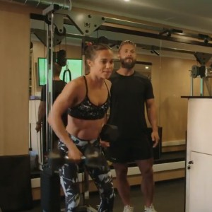 Alicia Vikander and Magnus Lygdback training together