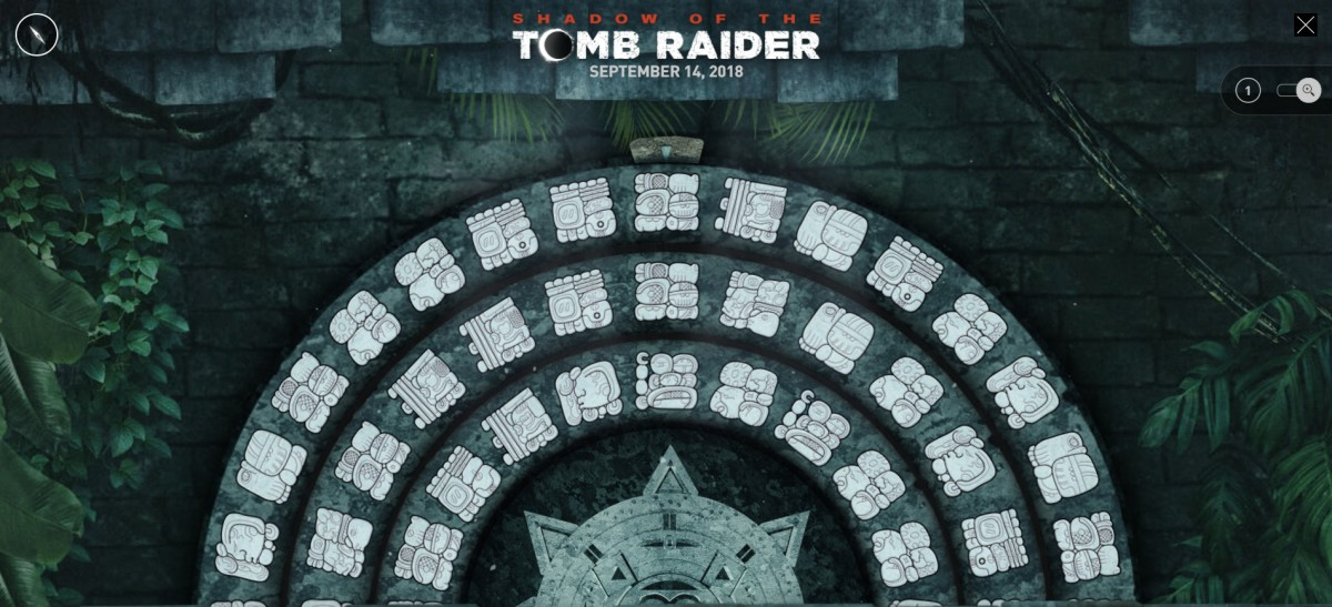 Official 'Tomb Raider' Site Launches Maya-Themed Puzzle