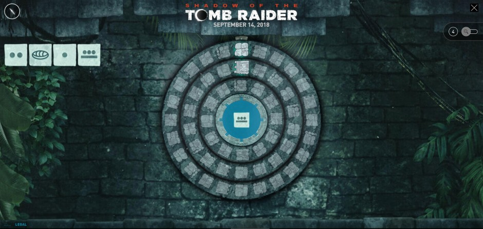 One of the puzzles used by the official Tomb Raider site to promote 'Shadow of the Tomb Raider'
