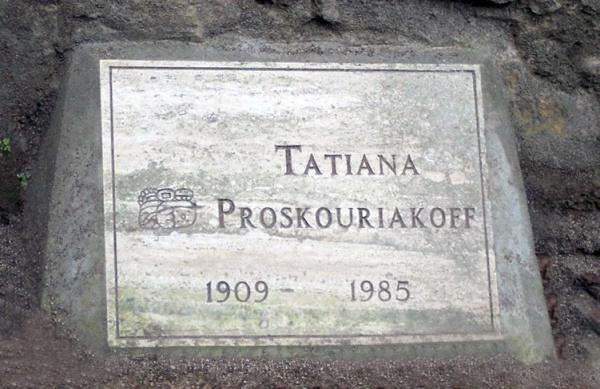 Tatiana Proskouriakoff's memorial at Piedras Negras