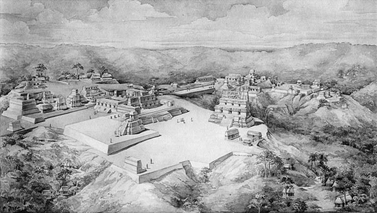 Tatiana Proskouriakoff's reconstruction of Uaxactun, Guatemala