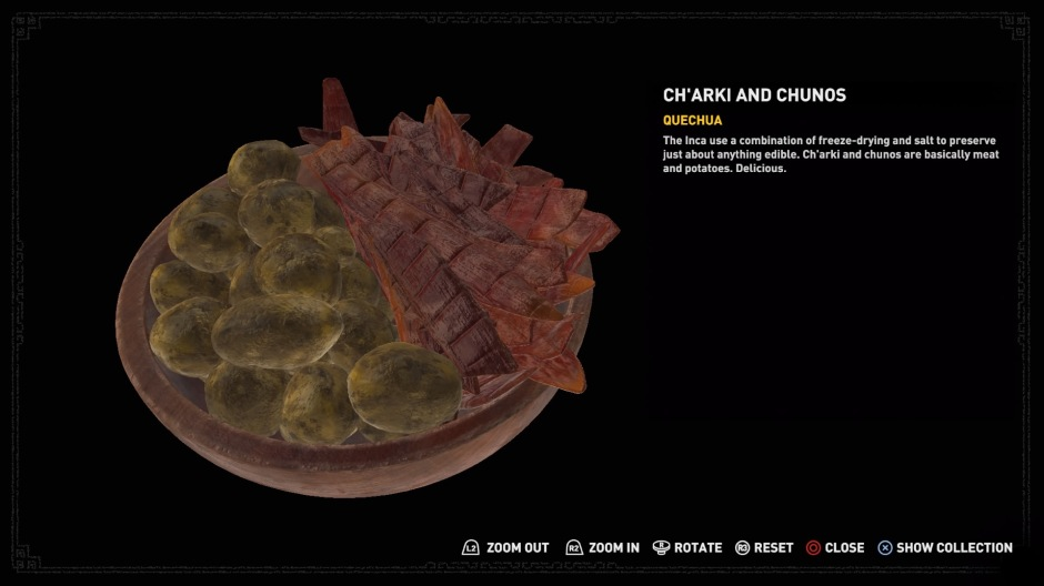 Ch'arki and chuños, as seen in Shadow of the Tomb Raider