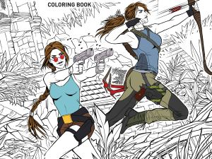 Tomb Raider colouring book