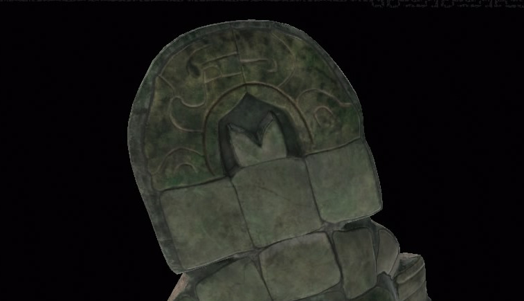 A closer look at the jade mask's headdress (Screenshot by Tomb Raider Horizons)