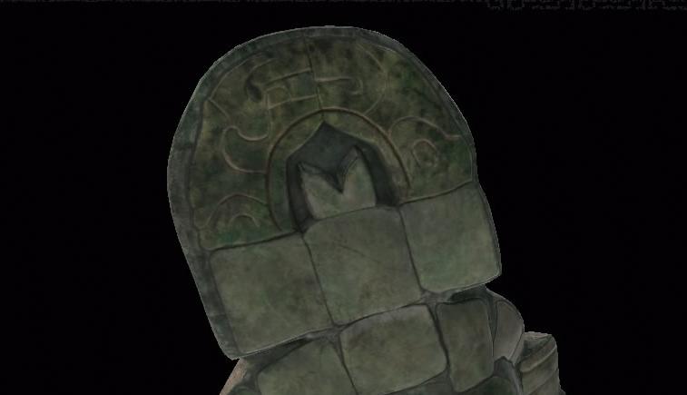 A closer look at the jade mask's headdress (Screenshot by Tomb Raider Horizons)