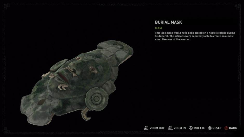 A closer look at the mask's ear-flares (Screenshot by Tomb Raider Horizons)