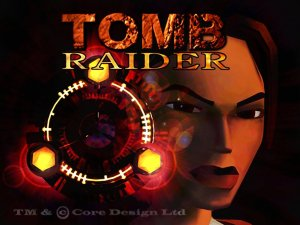 Tomb Raider (1996) menu screen
