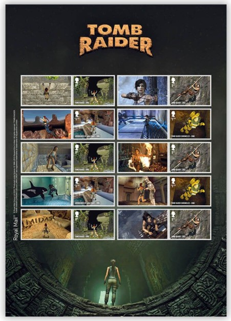 Royal Mail's Tomb Raider collectors sheet