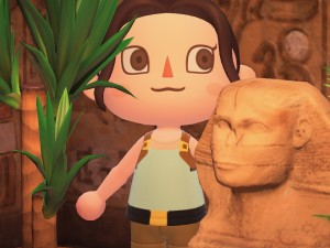 Lara Croft-themed outfits in Animal Crossing: New Horizons