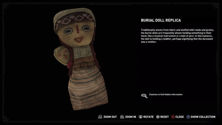 Burial doll replica from Shadow of the Tomb Raider