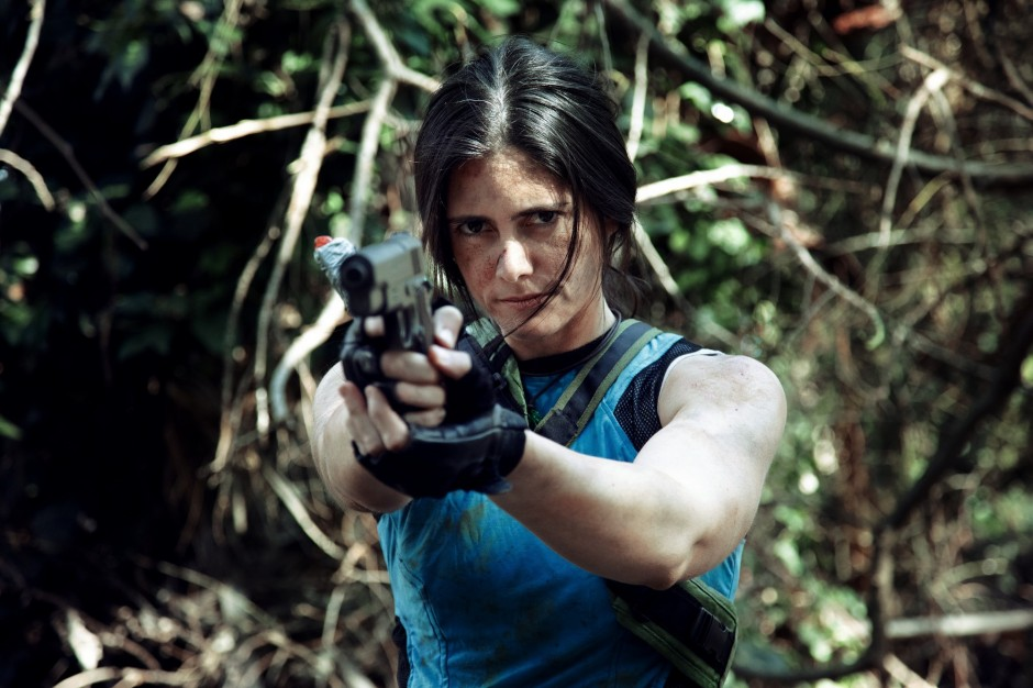 Noelle Adams cosplaying as Lara Croft from Shadow of the Tomb Raider