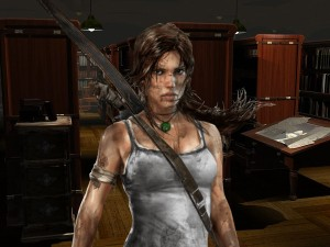 Tomb Raider video chat background